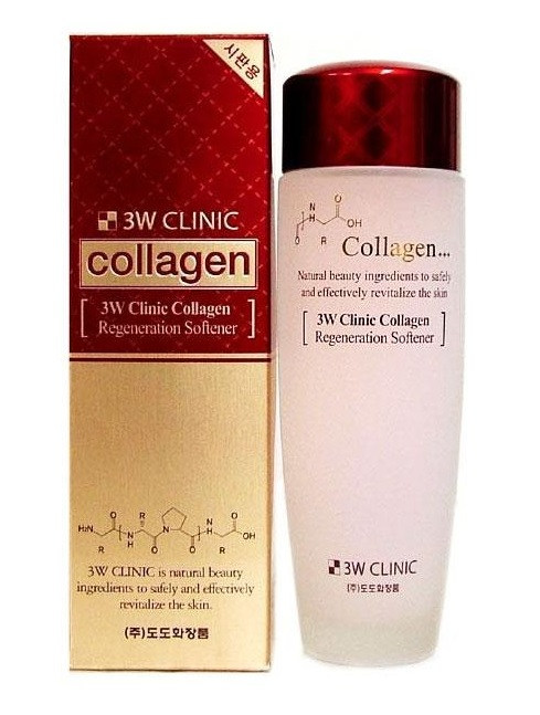 Тоник для лица восстанавливающий с коллагеном 3W Clinic Collagen Regeneration Softener