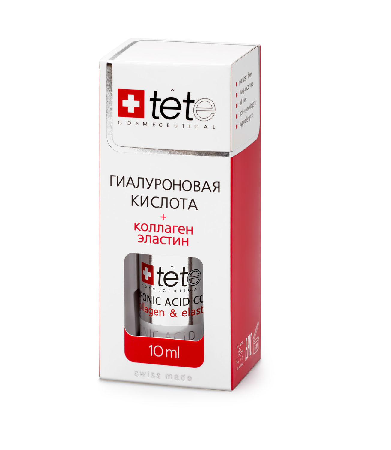 Мини гиалуроновая кислота 100% с коллагеном и эластином TETe Cosmeceutical MINI Hyaluronic Acid Collagen Elastin