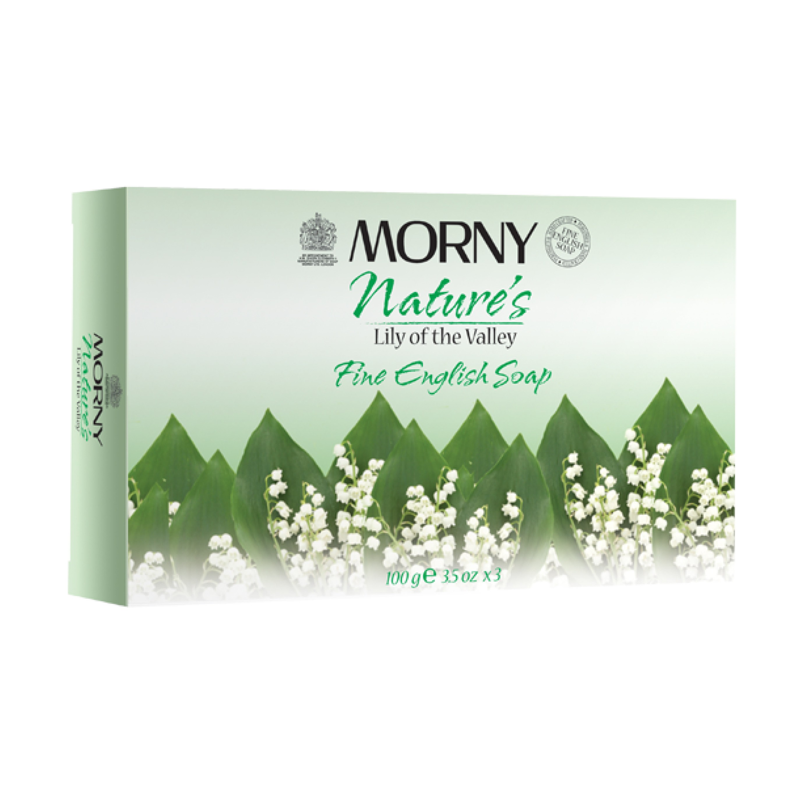 Английское мыло Ландыш Morny of London Lily of the Valley Fine English Soap 3 шт