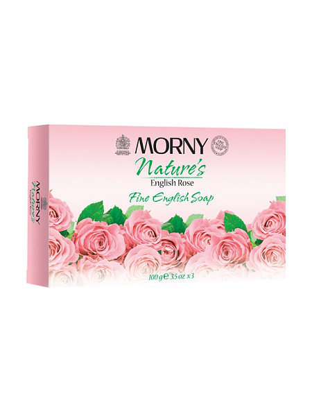 Английское мыло с розой Morny of London Natures English Rose Fine English Soap 3 шт