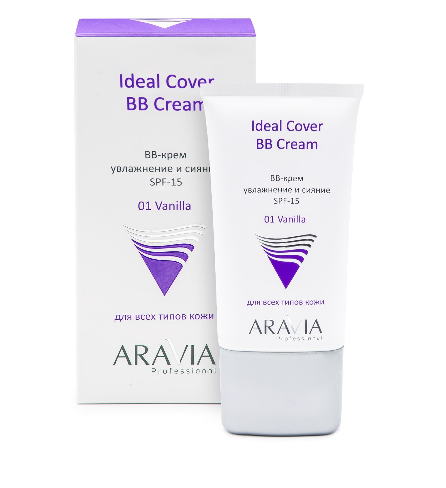 BB-крем увлажняющий SPF-15 ARAVIA Professional Ideal Cover BB-Cream Vanilla 01