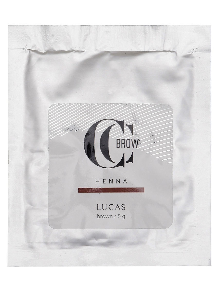 Хна для бровей Lucas Cosmetics CC Brow Color Correction саше Brown