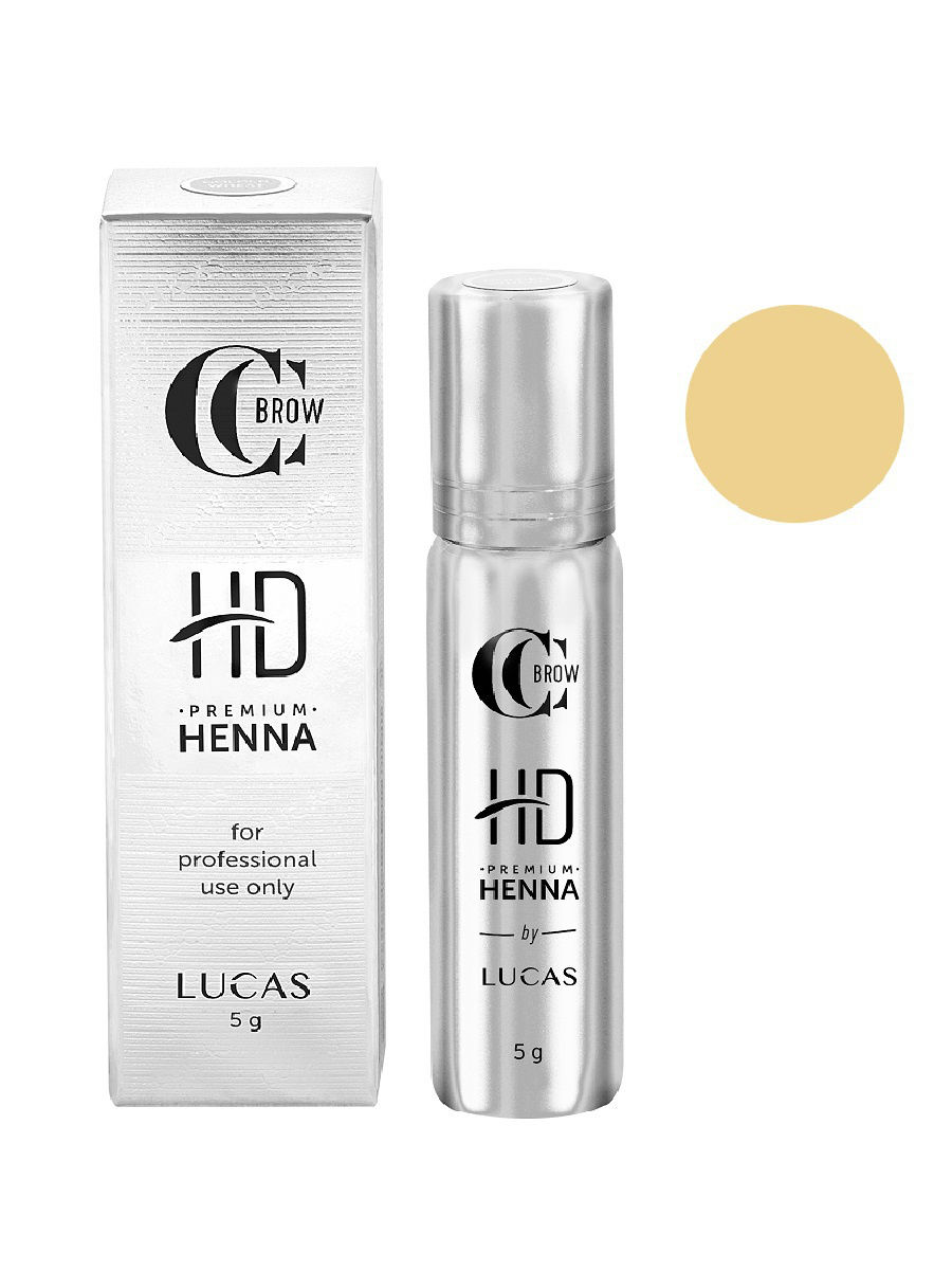 Профессиональная хна для бровей Lucas Cosmetics Premium Henna HD Golden Wheat
