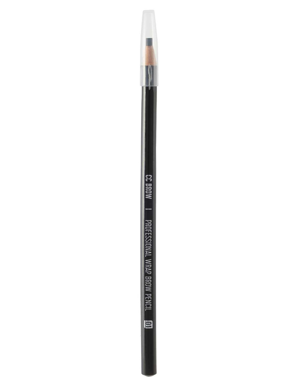 Карандаш для бровей чёрный Lucas Cosmetics CC Brow Wrap Brow Pencil Black тон 01