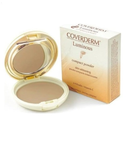 Осветляющая пудра Coverderm Luminous Skin Whitening Compact Powder №3