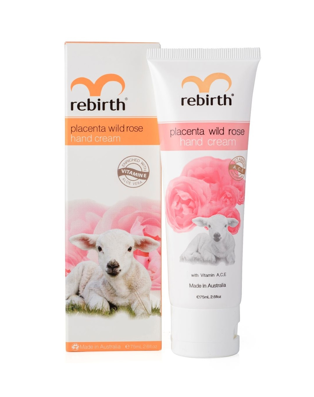 Крем для рук с экстрактом плаценты и маслом розы Rebirth Placenta Wild Rose Hand Cream
