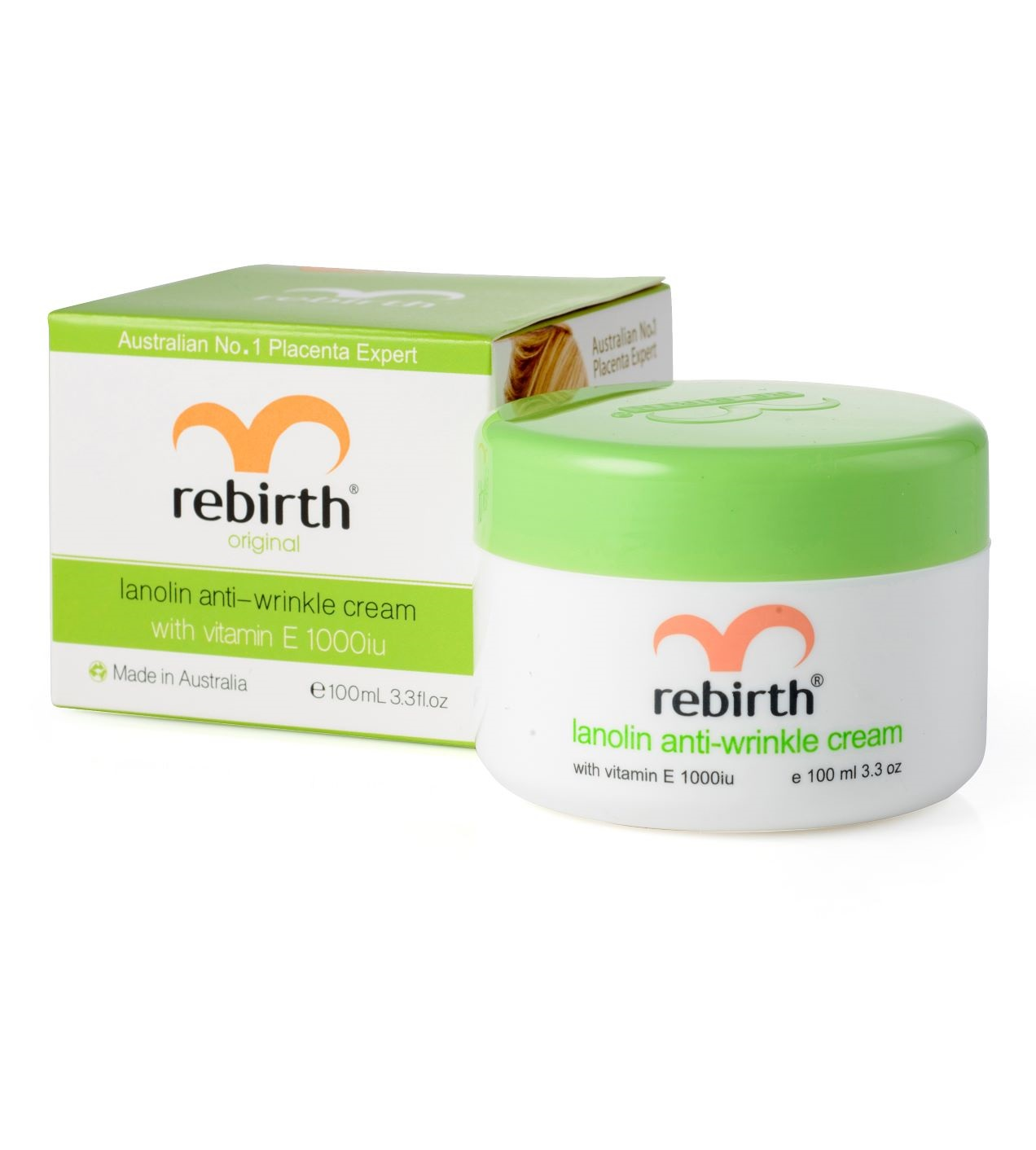 Крем против морщин с витамином Е и ланолином Rebirth Lanolin Anti-Wrinkle Cream