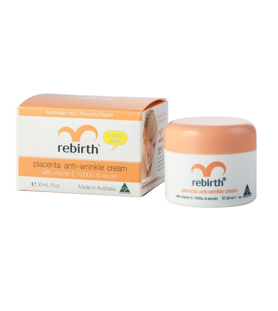 Крем с экстрактом плаценты овец, витамином E и ланолином Rebirth Placenta Anti-Wrinkle Cream With Vitamin E and Lanolin