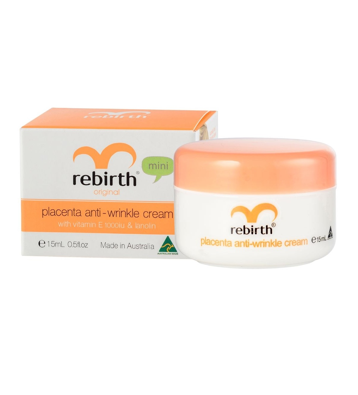Крем с экстрактом плаценты, витамином Е и ланолином Rebirth Placenta Anti-Wrinkle Cream