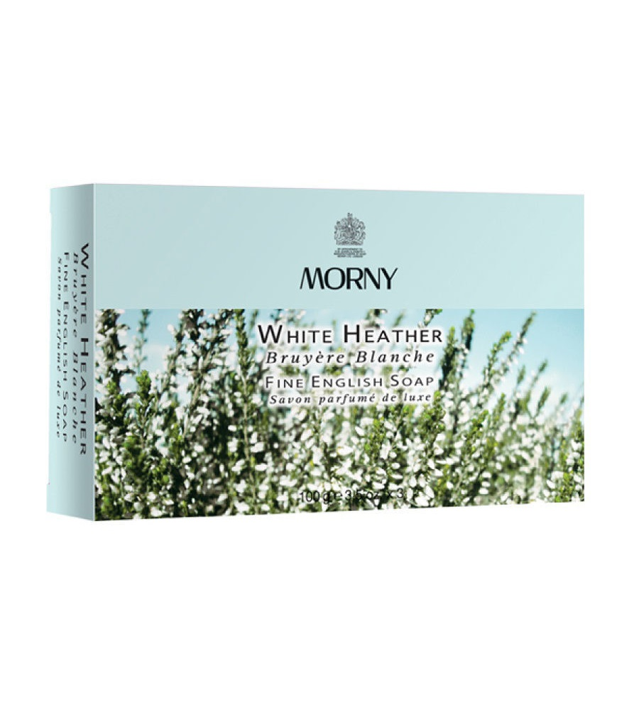 Мыло Белый Вереск Morny of London Natures White Heather English Soap набор 3 шт