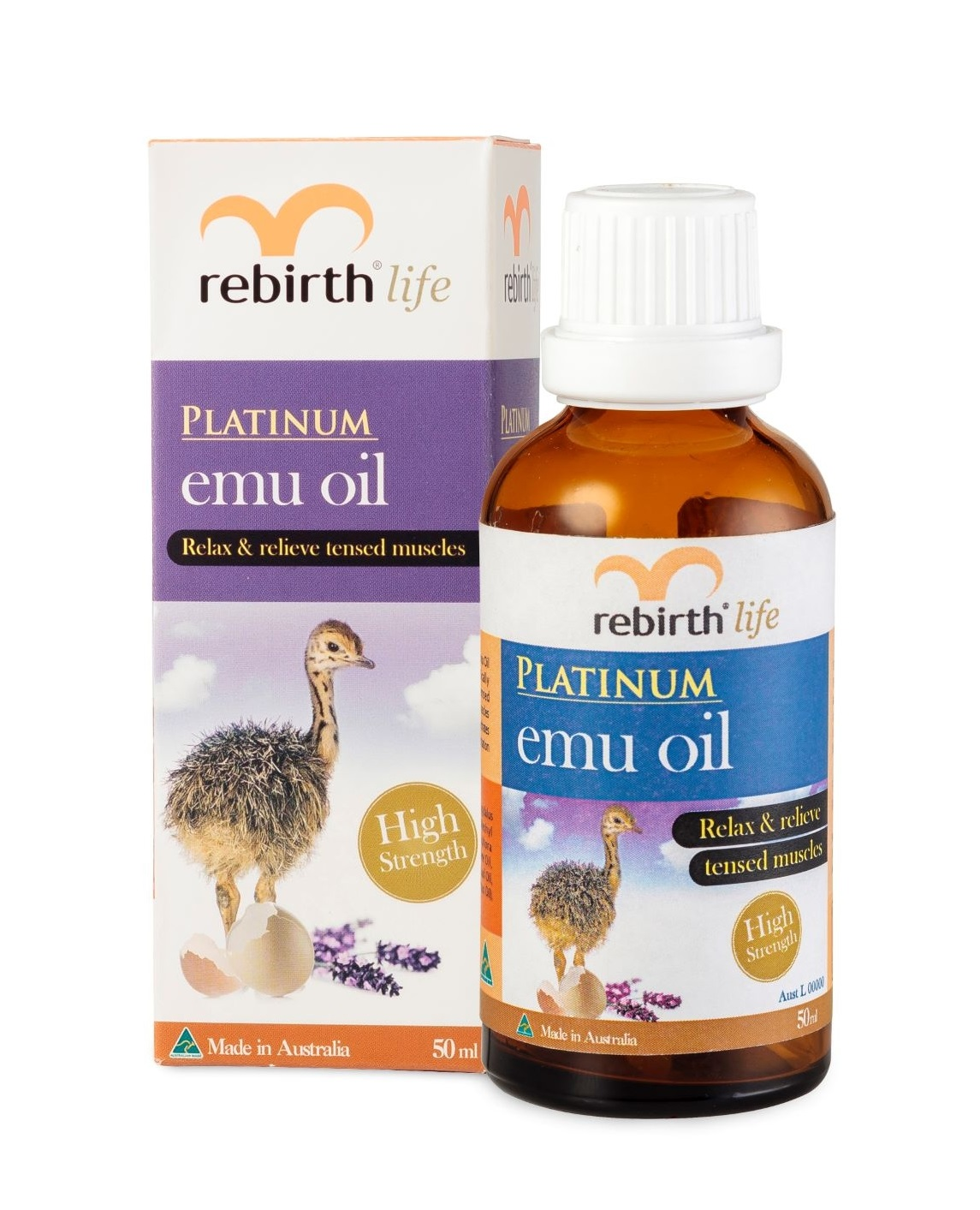 Платиновое масло Эму Rebirth Platinum Extra Strength Emu Oil