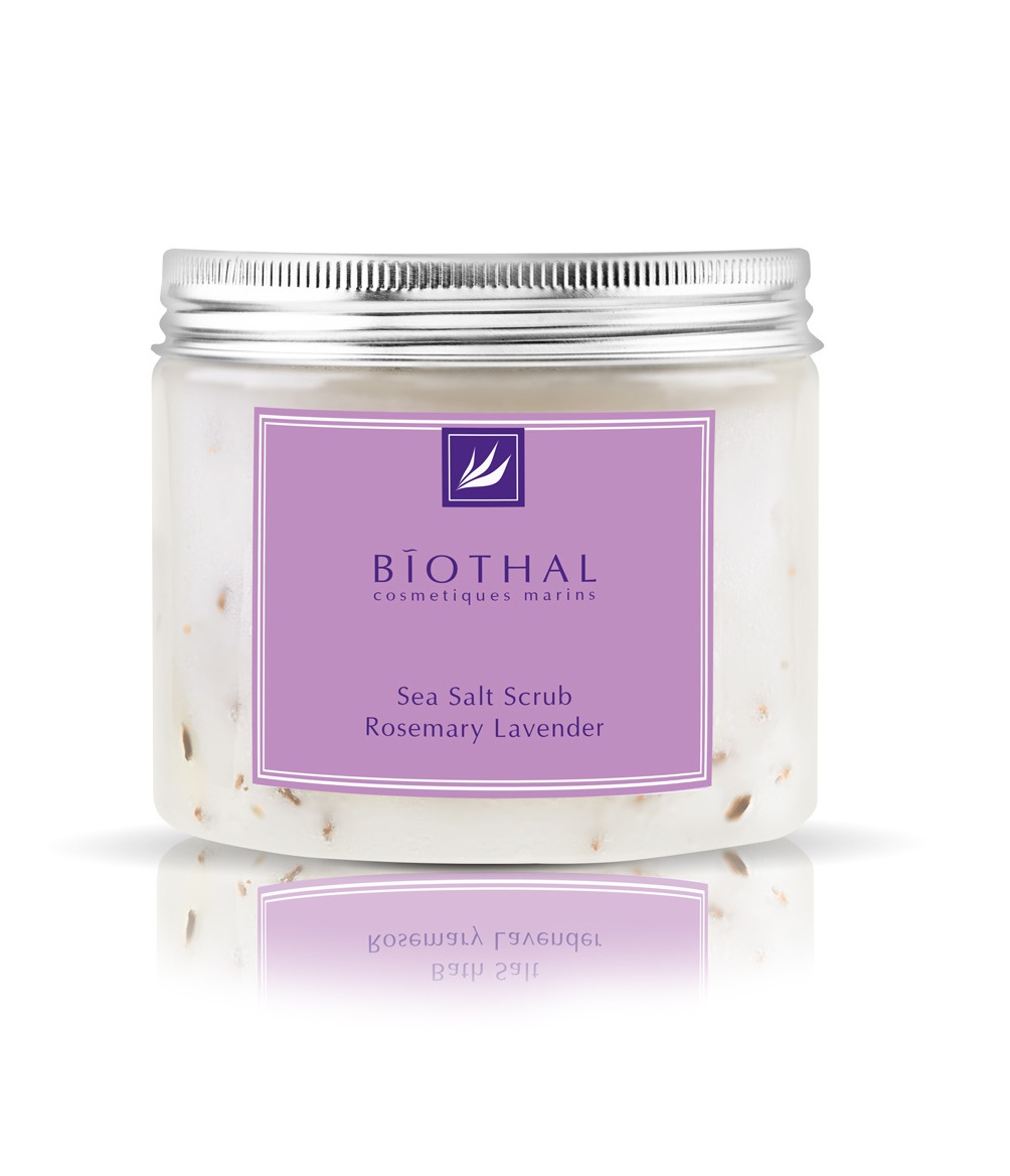 Скраб соляной для тела Розмарин Лаванда Biothal Sea Salt Scrub Rosemary Lavander