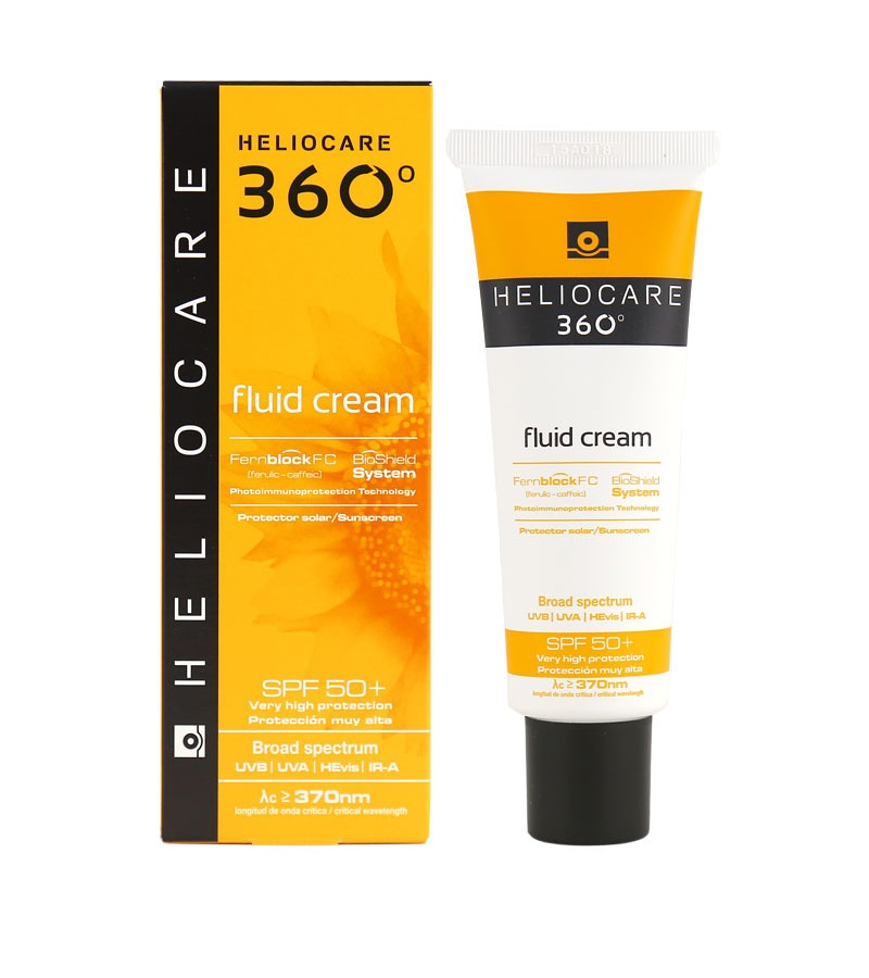 Солнцезащитный крем-флюид с Spf 50+ Cantabria Labs Heliocare 360º Fluid Cream Spf 50+ Sunscreen