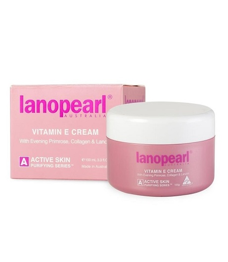 Витамин Е крем с маслом вечерней примулы, коллагеном и ланолином Lanopearl Vitamin E Cream