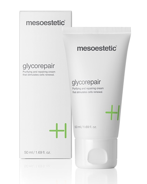 Восстанавливающий крем с гликолевой кислотой Mesoestetic Glycorepair