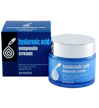 Крем для лица с гиалуроновой кислотой Zenzia Hyaluronic Acid Ampoule Cream